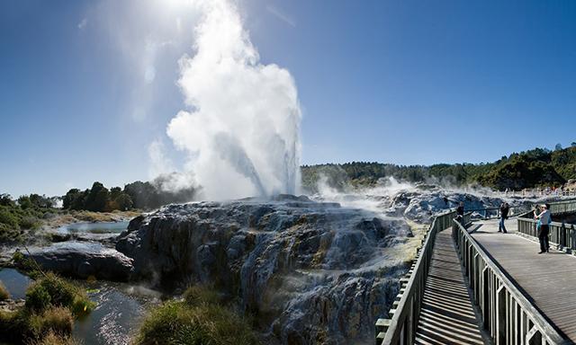 Blue Baths Tea and Rotorua Thermal Outing